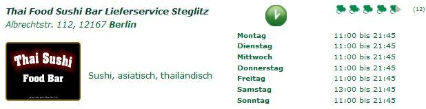 thai food sushi bar lieferservice steglitz albrechtstr 112 12167 berlin. Black Bedroom Furniture Sets. Home Design Ideas